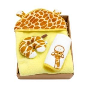 【hipopipo小西波彌月首選】長頸鹿彩色包澡巾禮盒(B款)
