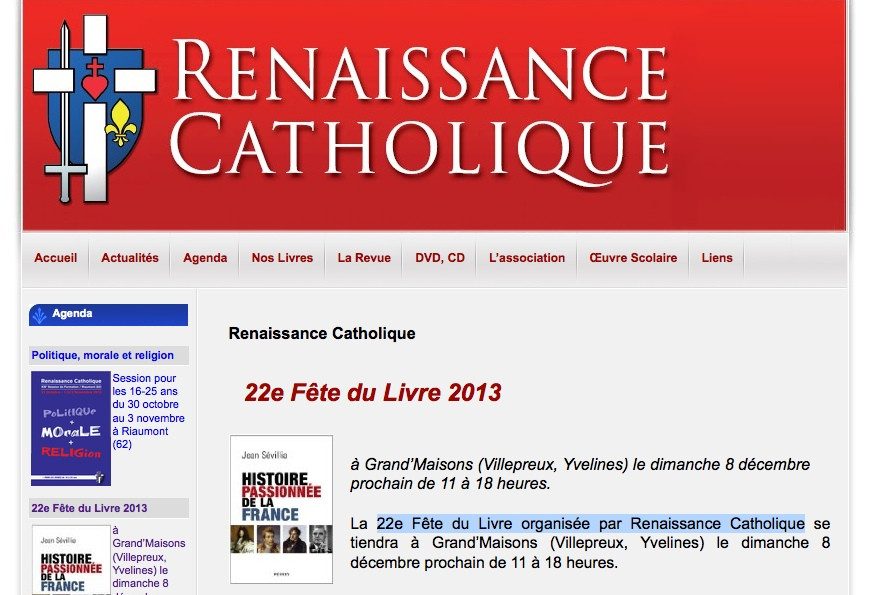 Jean sevillia_renaissance catholique_Figaro Histoire