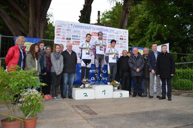 Les trois champions du Morbihan des 1è, 2è catégorie et des espoirs