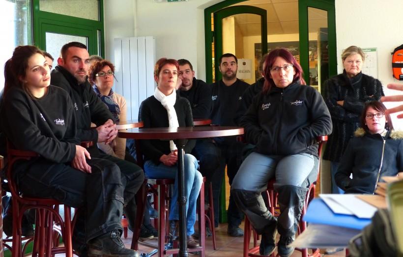Les employés de la brasserie Lancelot