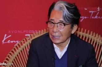 Le célèbre styliste Kenzo Takada était à Casablanca (VIDEO)