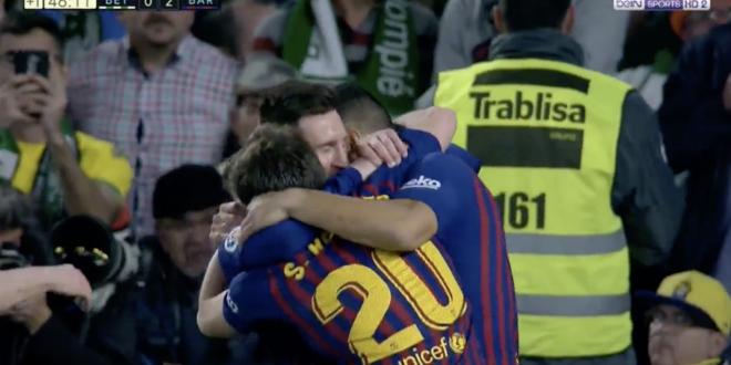 Lionel Messi frappe, le Barça s'envole