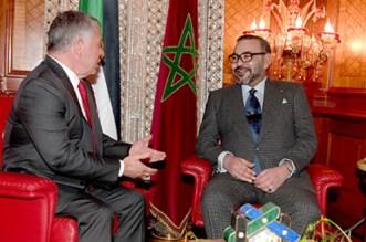 Message du roi Mohammed VI au roi Abdallah II