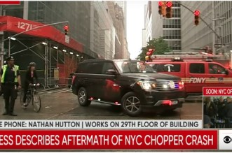 New York: un hélicoptère s'écrase sur un immeuble de Manhattan (VIDEOS)