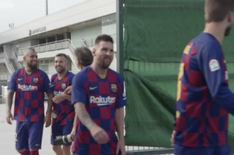 De retour à l'entrainement, Messi est en pleine forme (VIDEO)
