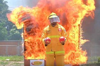 Arrivée au Maroc d'Elide Fire, la boule qui révolutionne la sécurité incendie