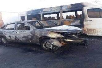 Al Hoceïma: deux véhicules prennent feu, la police mobilisée