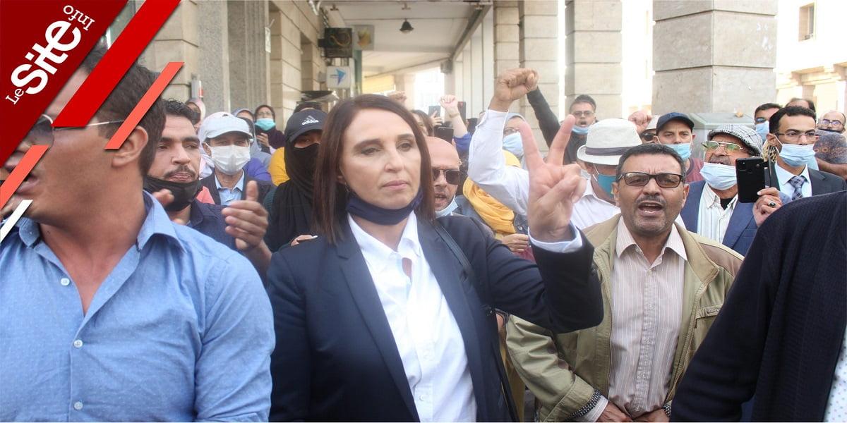 Rabat: Nabila Mounib se joint aux manifestants anti-pass (VIDEO)