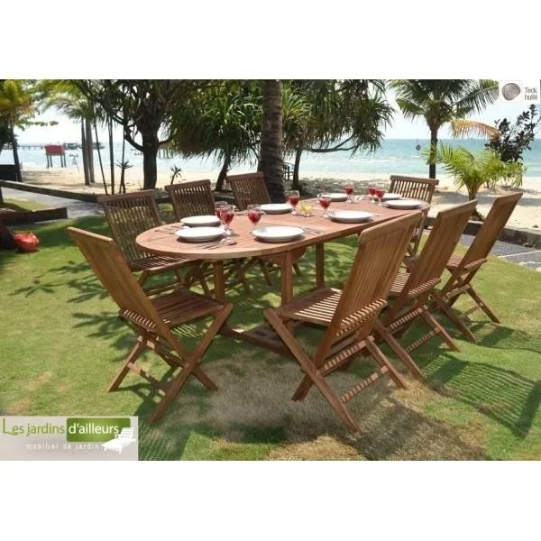 Salon De Jardin En Teck Massif Java Assorti De Chaises Table Cms