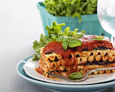 lasagnes aubergine tomate