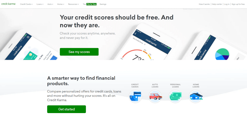 credit karma website screenshot