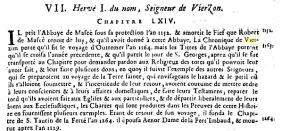 Extrait de Thaumas de la Thaumassière : Hervé Ier
