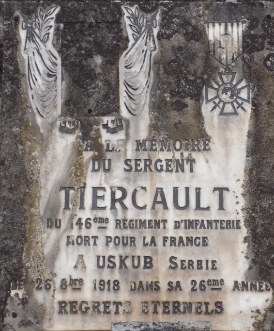 Épitaphe d'Eugène Thierçault