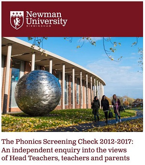 Image result for The Phonics Screening Check 2012-2017: An independent enquiry into the views of Head Teachers, teachers and parents