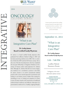 """What is an Integrative Care Plan"" @ Luellen Patient Resource Room 