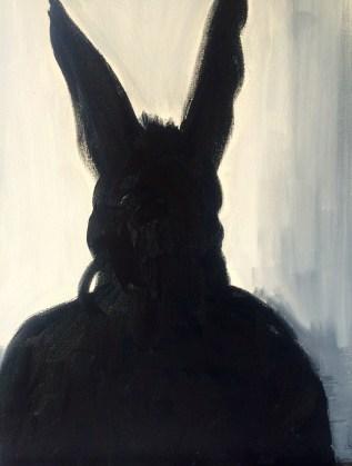 Scary portrait 49 x 59 cms