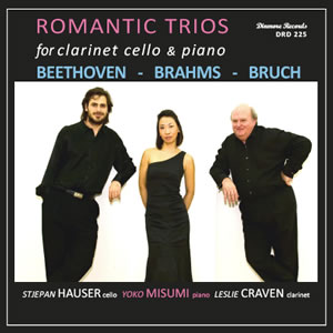 Front cover of cd of Romantic Trios