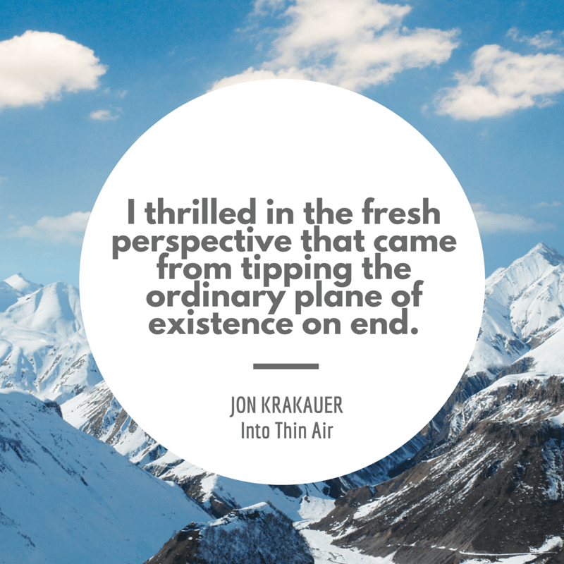 Into Thin Air Mount Everest quote