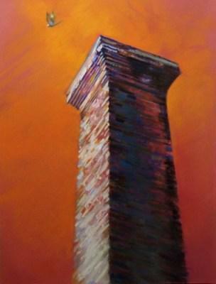 "Wabash #4. Chalk pastel on paper, 18"" x 24"", 2008 SOLD"