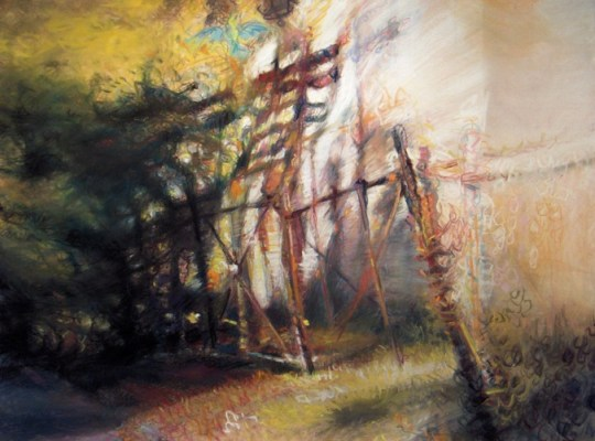 "Wabash #24. Chalk pastel on paper, 18"" x 24"", 2010 SOLD"