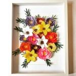 DIY : Composition de fleurs en papier à encadrer