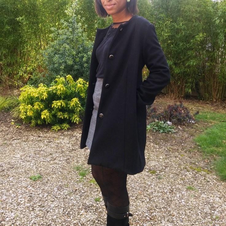 Manteau en laine porté