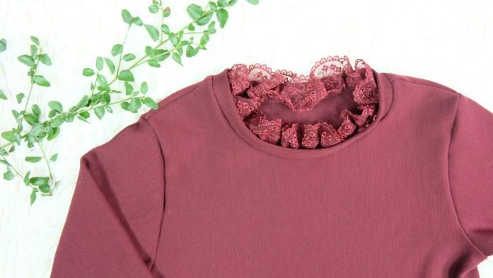 Sweat en laine avec un col en dentelle