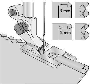 husqvarna pied pour ourlet roule 2mm
