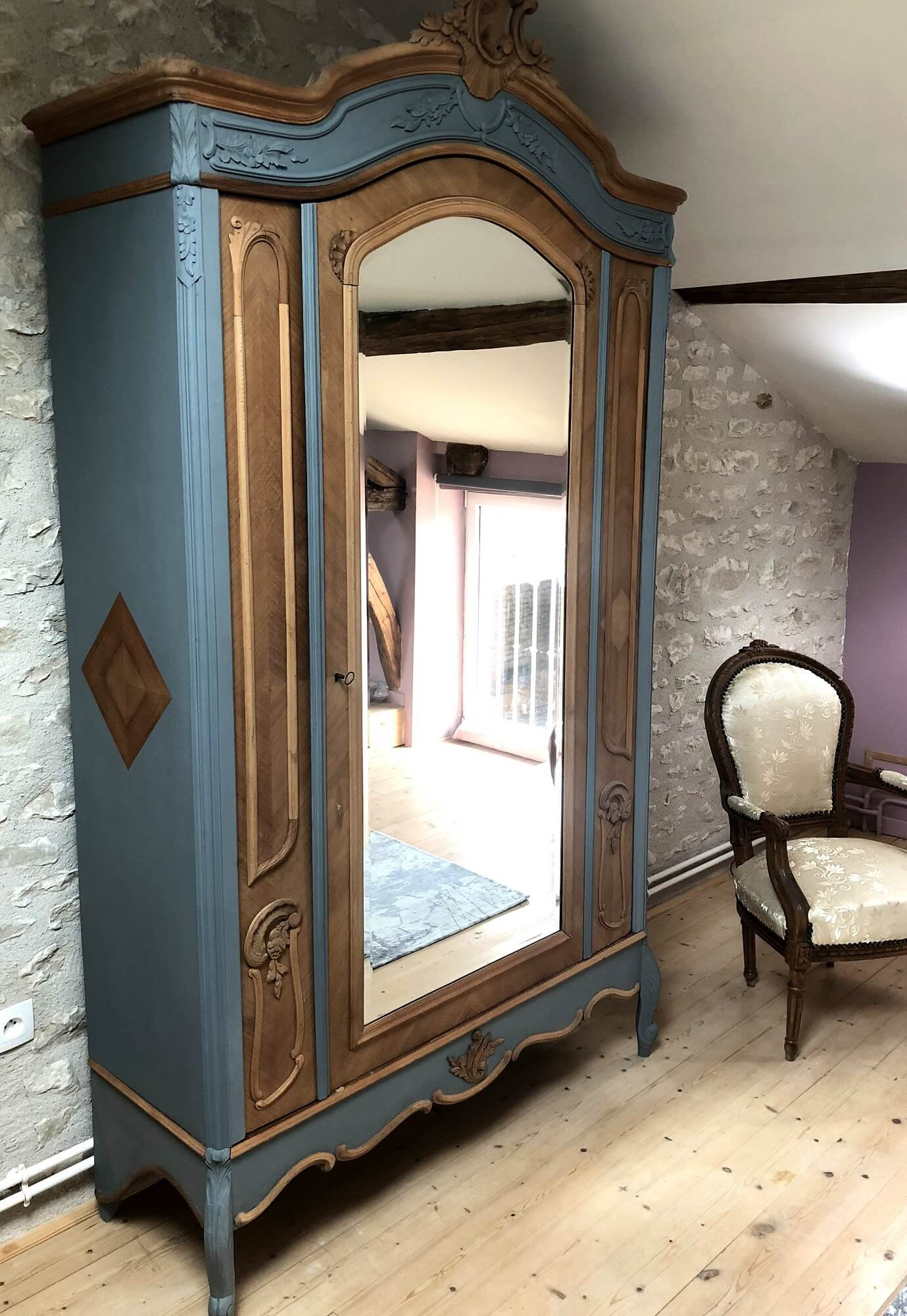 armoire a glace relookee les meubles
