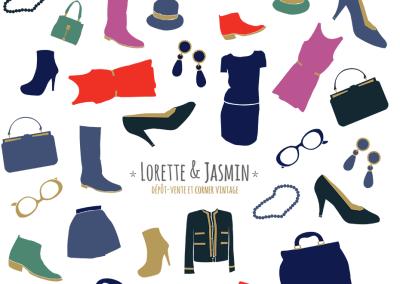Lorette et Jasmin, corner vintage et location de sacs