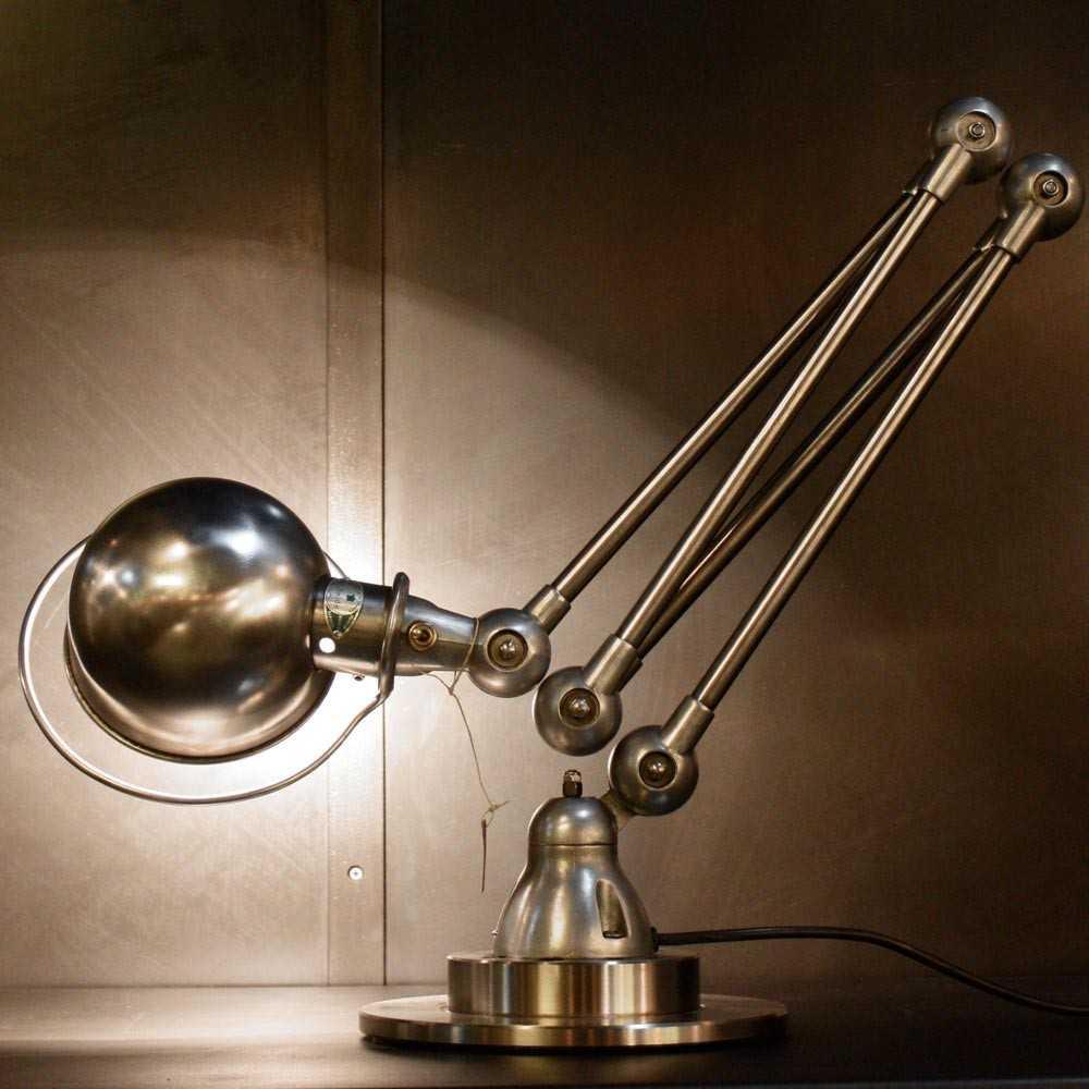 Lampe industrielle JIELDE 4 bras  Les Nouveaux Brocanteurs