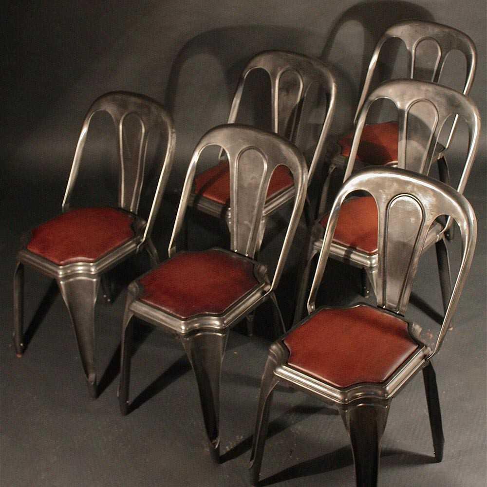 Chaise Industrielle Fibrocit Mtal Et Cuir Les Nouveaux