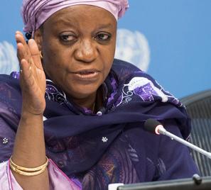 Zainab Bangura, représentante spéciale de l'ONU sur les violences sexuelles en situation de conflit. UN Photo/Mark Garten