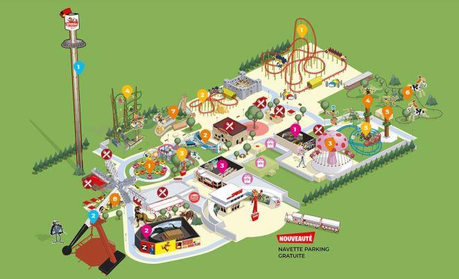 parc spirou plan
