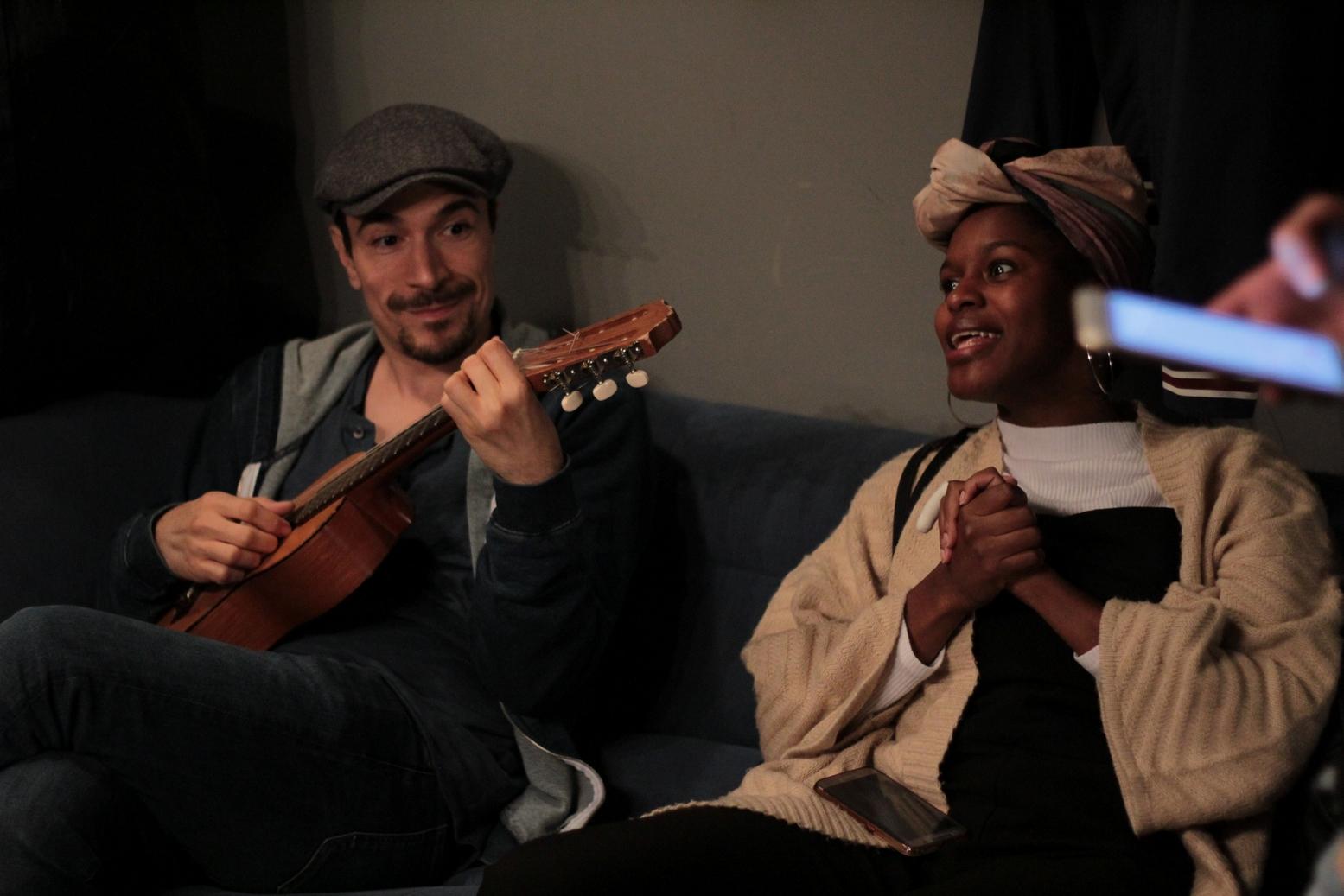 Yacine Belhousse et Fadily Camara