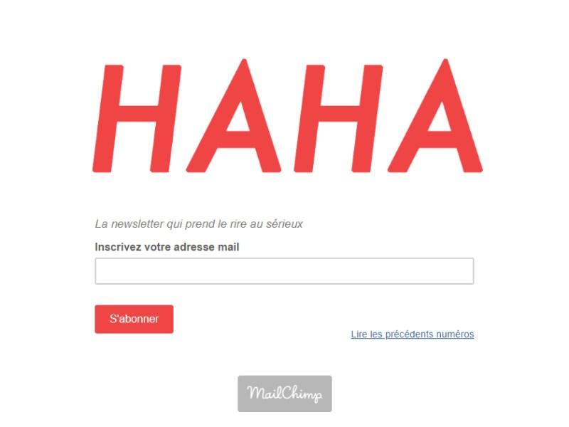 Revue HAHA : newsletter humour