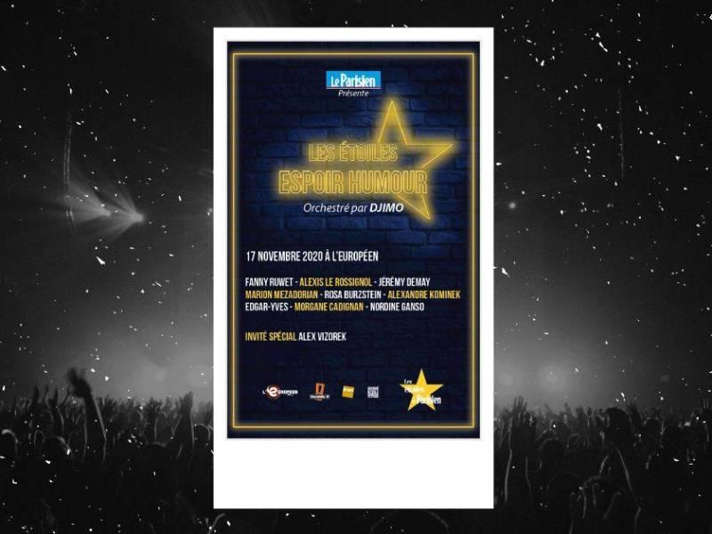 Étoiles espoir humour du Parisien : line-up et affiche de la soirée à l'Européen