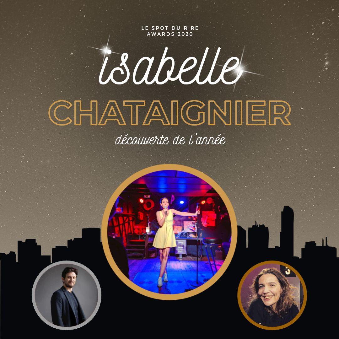 Isabelle Chataignier reçoit l'award de la meilleure découverte humour 2020 !