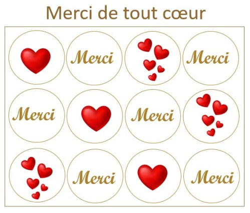 Les Prodigieux merci coeurs x12