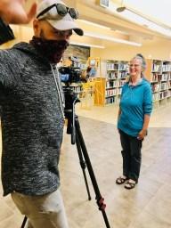 Entrevue à la bibliothèque de Portneuf-sur-Mer