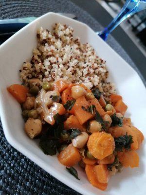 Légumes au lait de coco et curry