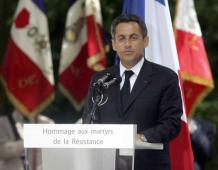 Nicolas SARKOZY à COLMAR pour la commémoration de la Victoire du 8 Mai