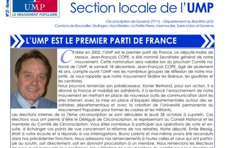 Bulletin UMP de la 7ème Circonscription du Bas-Rhin, novembre 2010