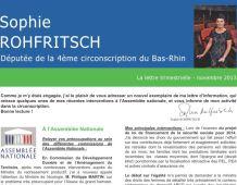 La Lettre trimestrielle de Sophie ROHFRITSCH – Novembre 2013