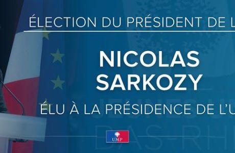 Nicolas SARKOZY élu Président de l'UMP