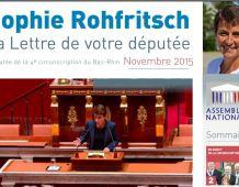 La Lettre d'information parlementaire de Sophie ROHFRITSCH – novembre 2015