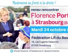 Rencontre militante avec Florence PORTELLI à STRASBOURG – Mardi 24 octobre 2017 à 19H