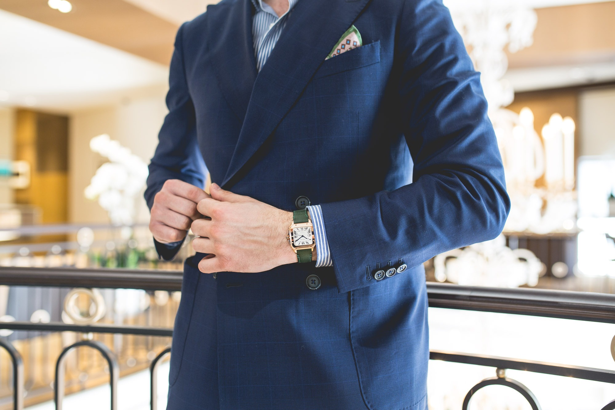 Montre Cartier Santos Medium Gold Style
