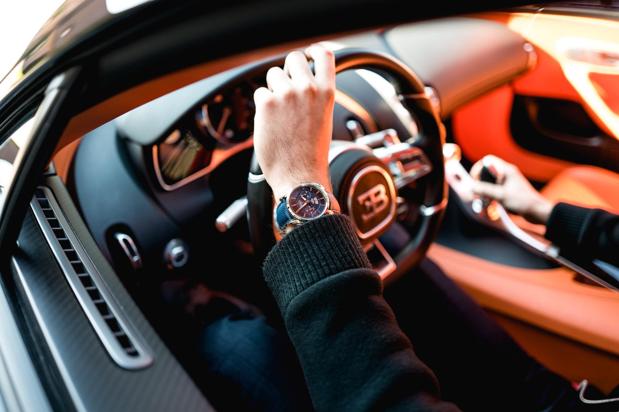 Ateliers Bugatti à Molsheim - Bugatti Chiron -Parmigiani Aerolithe Chronograph