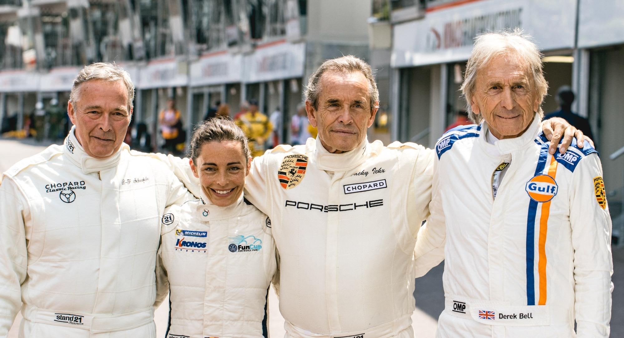 Grand Prix de Monaco Historique - Karl-Friedrich Scheufele, Vanina Ickx, Jacky Ickx et Derek Bell